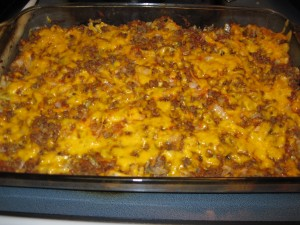 Low Carb Ground Beef Casserole